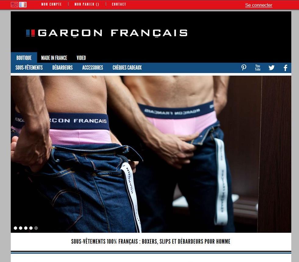 Garçon Français - site internet