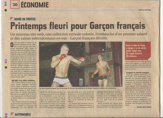 garçon français libération champagne juin 2014