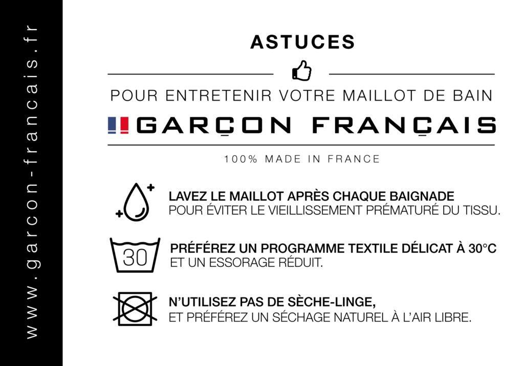 Astuces de lavage pour bien entretien son maillot de bain Garçon Français.